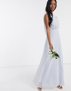 Niebieska sukienka Maids To Measure z szyfonu maxi bez rękawów
