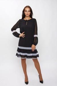 Sukienka SERERRA BUTIK mini z długim rękawem z tkaniny