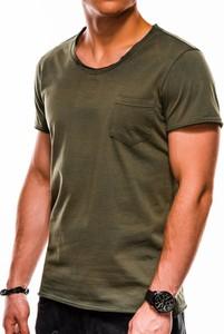 Zielony t-shirt Edoti w stylu casual