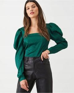 Zielona bluzka V by Very z satyny