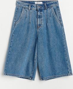Niebieskie szorty Reserved z jeansu
