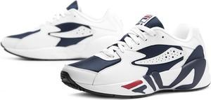 Buty sportowe Fila w sportowym stylu ze skóry sznurowane