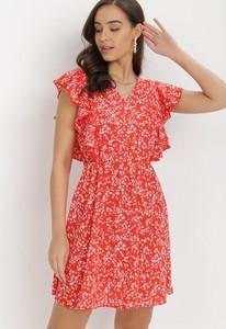 Czerwona sukienka born2be mini