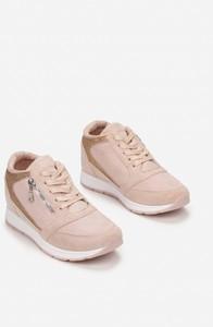 Różowe buty sportowe Esclusivo.pl sznurowane