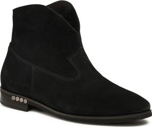 Czarne botki Badura w stylu casual