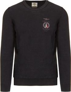 Czarny sweter Aeronautica Militare z dzianiny
