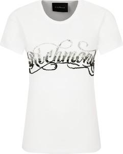T-shirt John Richmond z okrągłym dekoltem z krótkim rękawem