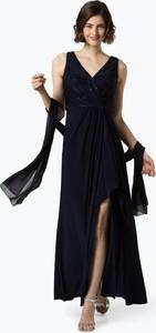 Sukienka Luxuar Fashion kopertowa z dekoltem w kształcie litery v bez rękawów