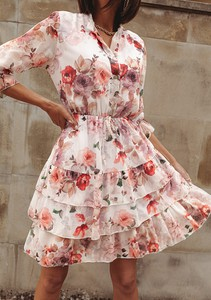 Sukienka Latika trapezowa z dekoltem w kształcie litery v