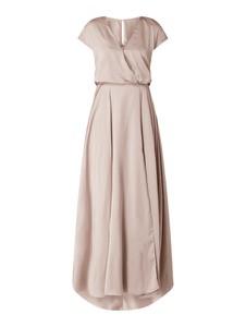 Sukienka Unique z satyny z krótkim rękawem