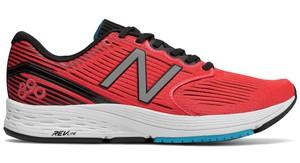 Czerwone buty sportowe New Balance sznurowane