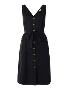 Czarna sukienka Esprit mini bez rękawów z dekoltem w kształcie litery v