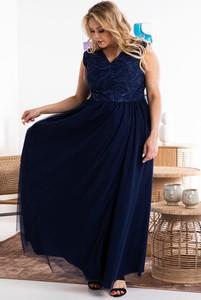 Niebieska sukienka KARKO bez rękawów