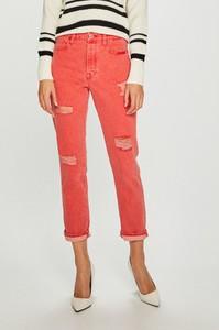 Różowe jeansy Guess Jeans z bawełny w street stylu