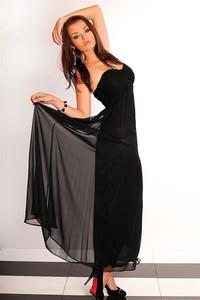 Sukienka Fionella maxi z tiulu
