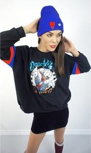 Niebieska bluza MissSpark z bawełny krótka