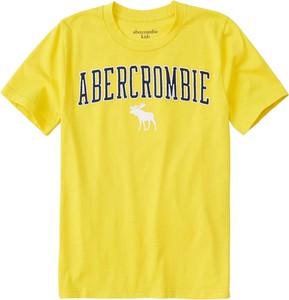 Żółta koszulka dziecięca Abercrombie & Fitch z dżerseju