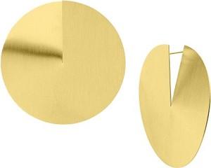 Manoki KA148G duże kolczyki satynowane dyski złote