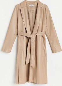 Płaszcz Reserved ze skóry