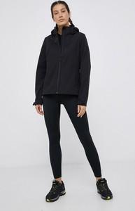 Czarna kurtka 4F krótka bez kaptura w stylu casual