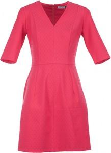 Sukienka VISSAVI z krótkim rękawem mini w stylu casual