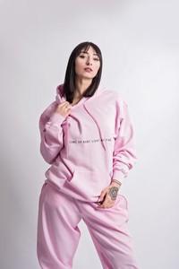 Różowa bluza REST_FActory krótka