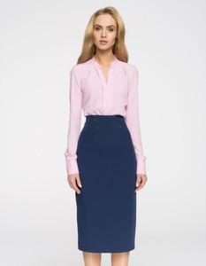 Niebieska spódnica Style midi