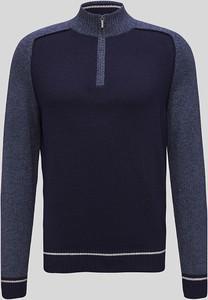 Niebieski sweter CANDA z wełny