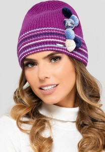 Fioletowa czapka Kamea