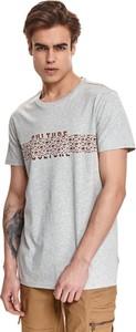 T-shirt Top Secret w młodzieżowym stylu z krótkim rękawem z nadrukiem