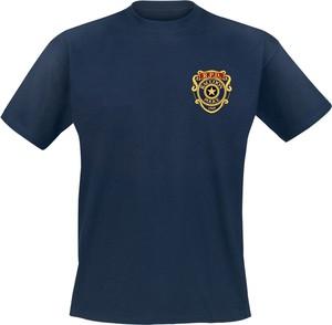 Niebieski t-shirt Emp z krótkim rękawem