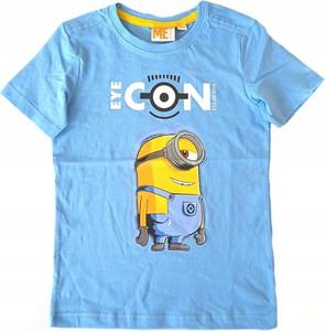 Niebieska koszulka dziecięca Inna marka z bawełny dla chłopców