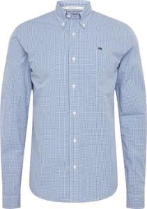 Niebieska koszula Scotch & Soda z bawełny z klasycznym kołnierzykiem z długim rękawem
