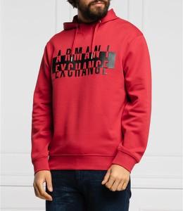 Czerwona bluza Armani Exchange z bawełny