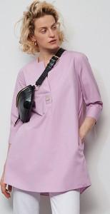Fioletowa tunika Reserved z bawełny z długim rękawem