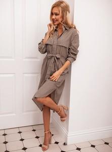 92da036535f2f5 Sukienka SELFIEROOM z lnu w stylu casual koszulowa
