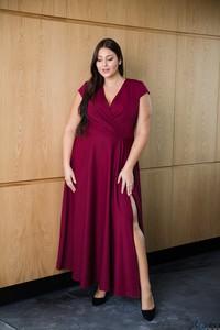 Sukienka tono.sklep.pl z krótkim rękawem maxi dla puszystych