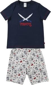 Granatowa piżama Sanetta dla chłopców z bawełny