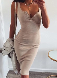 Sukienka Cikelly w stylu casual ołówkowa na ramiączkach
