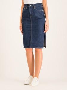 Granatowa spódnica Levis z jeansu midi