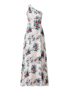 Sukienka Unique z satyny bez rękawów maxi
