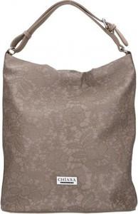 Brązowa torebka Chiara Design na ramię w stylu casual