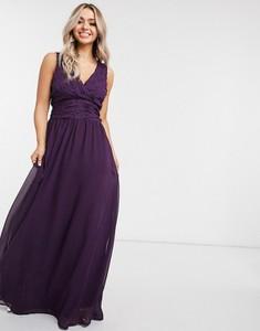 Fioletowa sukienka Ax Paris na ramiączkach z dekoltem w kształcie litery v
