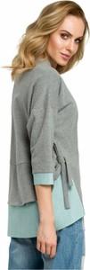 Bluzka MOE z bawełny z długim rękawem