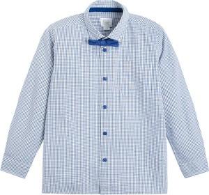 Niebieska koszula dziecięca Cool Club w krateczkę
