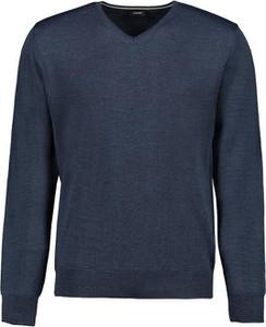Niebieski sweter Lavard z dzianiny