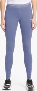 Niebieskie legginsy Puma w sportowym stylu