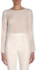 Bluzka Patrizia Pepe z jedwabiu w stylu casual z okrągłym dekoltem