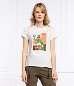 Bluzka Marella z okrągłym dekoltem w młodzieżowym stylu z krótkim rękawem