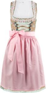 Sukienka bonprix bpc bonprix collection mini z dekoltem w karo w stylu etno